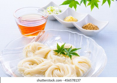 Somen, japanese noodles