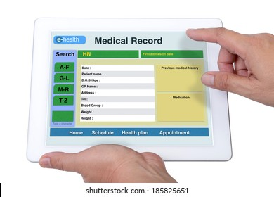 Someone is checking patient infomation and medical record.