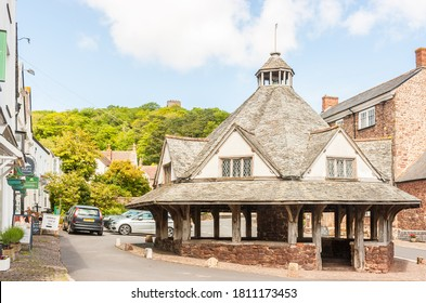 Somerset, Uk, Dunster, England May 19, 2015: The Yarn Market in Dunster, Somerset, England was built in the early 17th century one of many tourist attractions in Dunster village Somerset.
