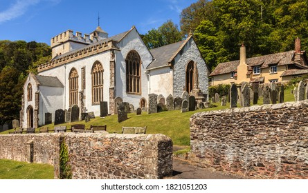 Somerset, Uk, England May 20, 2015:  picturesque scene of All Saints, Church Selworthy