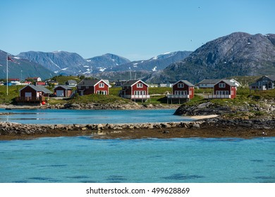 Sommaroy, a populated island located about 36 kilometres west of the city of Tromso in the western part of Troms county, Norway.