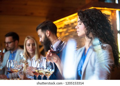Sommeliers at the winery