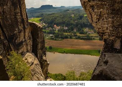 Sommer, Nature in Germany. Sandstone in Europa. - Shutterstock ID 2020687481