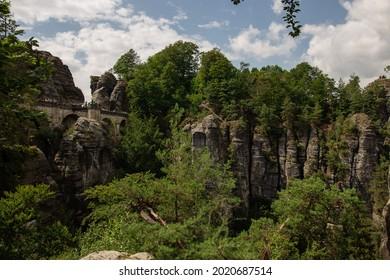 Sommer, Nature in Germany. Sandstone in Europa. - Shutterstock ID 2020687514