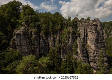 Sommer, Nature in Germany. Sandstone in Europa. - Shutterstock ID 2020687532