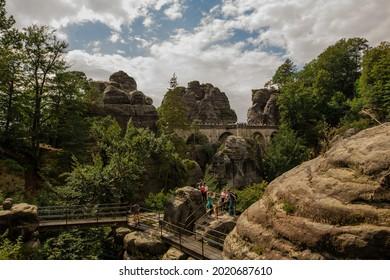 Sommer, Nature in Germany. Sandstone in Europa. - Shutterstock ID 2020687610