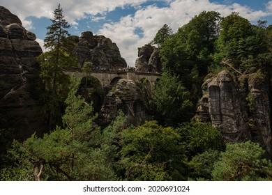 Sommer, Nature in Germany. Sandstone in Europa. - Shutterstock ID 2020691024