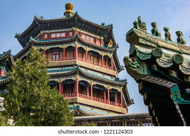 The Sommer Palace on the Longevity Hill in Beijing, an inscripted in the Unesco Heritage List