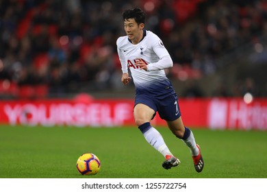 Son Heung-Min of Tottenham Hotspur - Tottenham Hotspur v Southampton, Premier League, Wembley Stadium, London (Wembley) - 5th December 2018