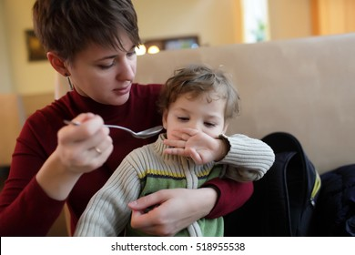 Son refuses to eat in the cafe
