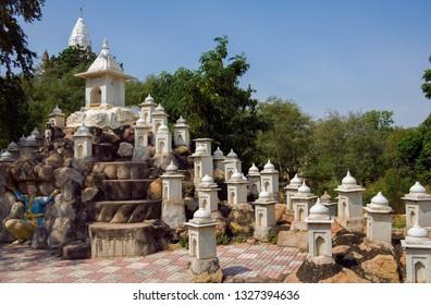 Sonagiri. India. 10.19.06. Sonagiri in the Bundelkhand area of Madhya Pradesh region of India. There are 77 Jain temples at Sonagiri shown here in minature.