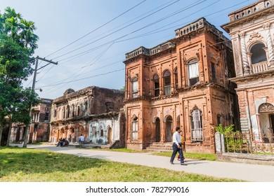 SONARGAON, BANGLADESH - NOVEMBER 21, 2016:  Abandoned ancient city Painam (sometimes Panam) Nagar, Bangladesh