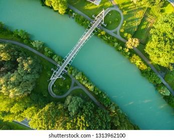 Sondrio - Valtellina (IT) - Cycle and pedestrian walkway on the Adda river