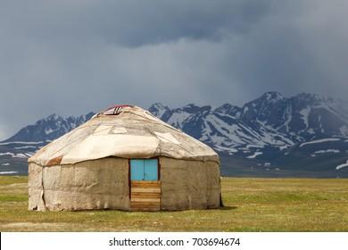 Song Kul - high alpine lake in the Tian Shan Mountains of Kyrgyzstan