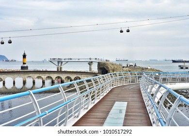 Songdo Beach Skywalk in Busan, Korea