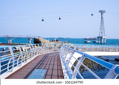 Songdo skywalk in Busan, South Korea