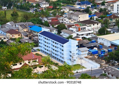 Songkhla South of Thailand with bird's eye view.