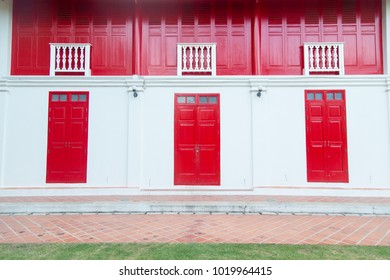 Songkhla, Thailand - January 8, 2018: The Entrance of Songkhla National Museum was constructed  on Chana Road in Chinese-style back in 1878 to serve as the residence for Songkhla ruler.