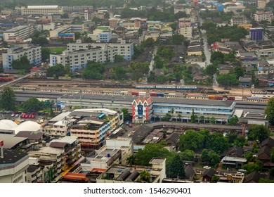 SONGKHLA, THAILAND - OCTOBER 24, 2019 - 12.01: Hat Yai train station, one of the most important transportation hub for southern part of Thailand.