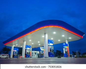 Songkhla, Thailand - Sep 9, 2017: PTT gas station. PTT Public Company Limited or simply PTT is a Thai state-owned SET-listed oil and gas company.Formerly known as the Petroleum Authority of Thailand.