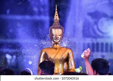Songkran Buddha is an amulet of Phraya Buddhism in Nong Khai Province, Thailand,Lao Buddha statue