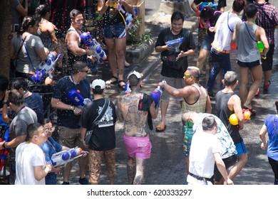 Songkran thailand festival 2017 in bangkok