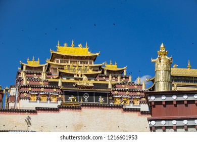Songzanlin Monastery  a tempel of Tabetan in Shangri-La ,Sichuan China , Popular destination of traveler from around the world
