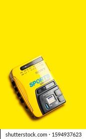 Sony Sports Walkman Wm-af58 (Use Editorial Only)