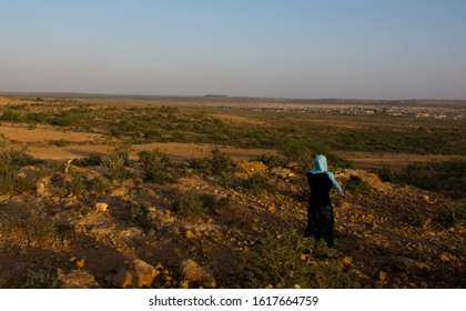 Sool countryside mountain landscape in Somalia 12.2017