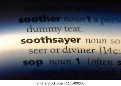 soothsayer word in a dictionary. soothsayer concept.