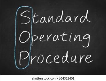 sop standard operating procedure