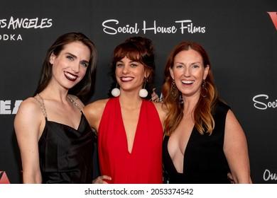 "Sophie Cooper, Noelle Urbano, Kristin Childers attend Social House Films Premiere of ""VAL"" at Landmark Theatre, Westwood, CA on September 29, 2021"