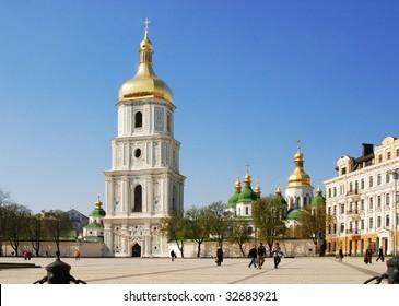 Sophievskaya Square in Kiev, Ukraine