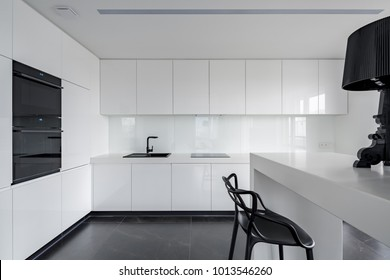 Modern Kitchen Cabinets In Studio Images Stock Photos Vectors