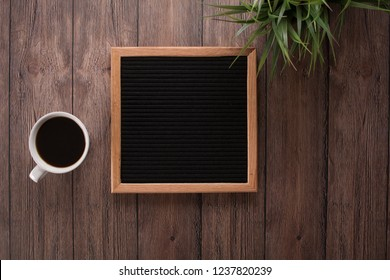 sophisticated blank letterboard with beautiful background