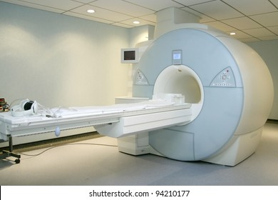 A sophisticated MRI Scanner at hospital.