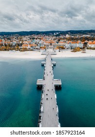 Sopot pier shot from the air