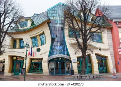 Sopot, Poland, December 01 2013: The Crooked House on the main street of Monte Cassino