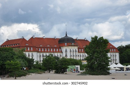 SOPOT, POLAND - June 20: Sheraton Hotel on a cloudy day on June 20, 2015 in Sopot, Poland.