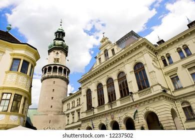 Sopron main square, Hungary