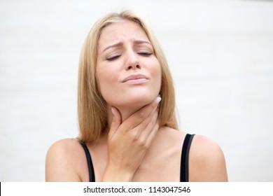 sore throat in summer