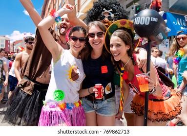 SORIA. SPAIN - JUNE 26, 2015: People in costume having fun at annual fiesta de San Juan. By tradition, bullfight ends