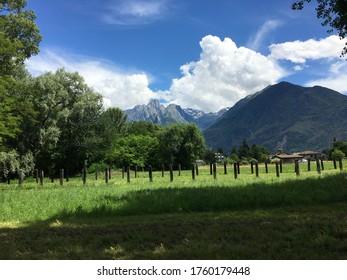 Sorico Como Country Field Farm Landscape