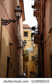 Sorrento,Campania/Italy-April 4th 2018 Sorrento is a small city in Campania, Italy. The old town is locally called the Drains with its narrow streets and interesting details