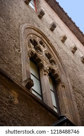 Sorrento,Campania/Italy-April 4th 2018Sorrento is a small city in Campania, Italy.The old town is locally called the Drains with its ancient but interesting details such as these arabic style windows