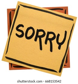apology note