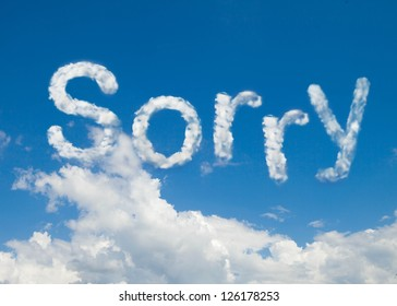 Sorry clouds shape word