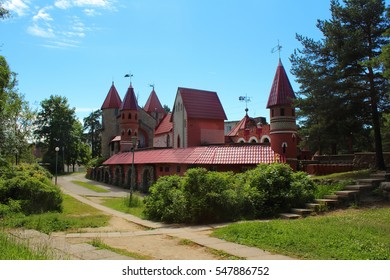 SOSNOVY BOR, LENINGRAD OBLAST, RUSSIA - June 19, 2014: Andersengrad - the children's fairy town in the town of Sosnovy Bor, about 80 km west of Saint Petersburg.