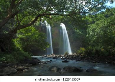 Sosong waterfall geopark ciletuh sukabumi west java indonesia
