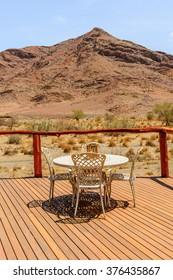 SOSSUVLEI, NAMIBIA - JAN 4, 2016: Sossusvlei Lodge Hotel. Hotel located at the entrance gate of Sossuvlei and Sesriem